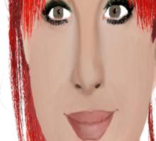 Hayley Williams digital oil pastel Sticker