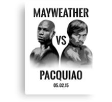 Mayweather VS Pacquiao 2015 Canvas Print