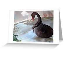A Duck in water Greeting Card