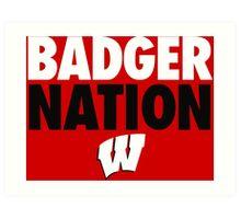 Wisconsin Badgers Basketball  Art Print