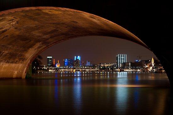 Frankfurt by Night by Francesco Carucci