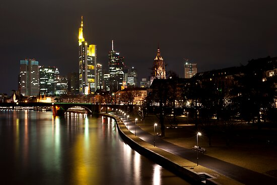 Frankfurt by Night by Francesco Carucci