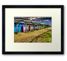 West Wittering -All along the Beach Huts  Framed Print