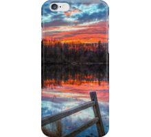 Sundown Pond and Fence iPhone Case/Skin