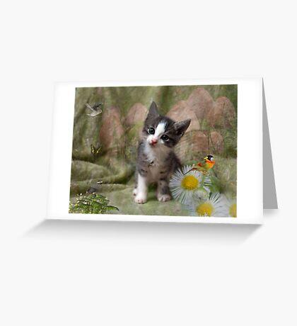 A Kittens Dream Greeting Card