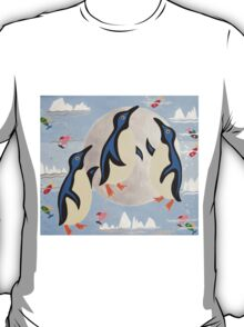 Penguins Playing with the Moon T-Shirt