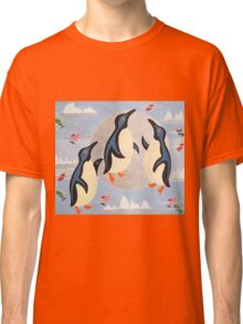 Penguins Playing with the Moon Classic T-Shirt