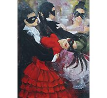 Romance in the waltz steps (1) Photographic Print