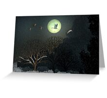 Silhouette of Winter Greeting Card