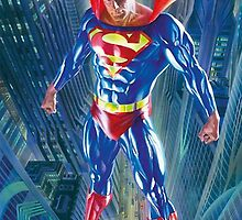 superman over the city by ghostship
