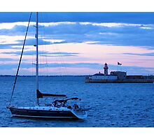 Sailboat in Dublin Bay Photographic Print