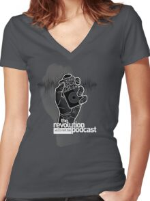 The Revolution Will Not Be Podcast Women's Fitted V-Neck T-Shirt