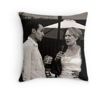Two Wine Drinkers Throw Pillow