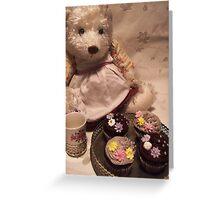 teddy's tea party Greeting Card