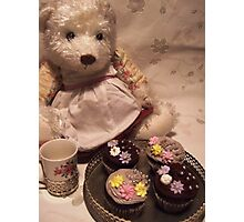 teddy's tea party Photographic Print