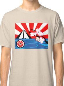 Mt. Fuji w/Cherry Blossoms Classic T-Shirt