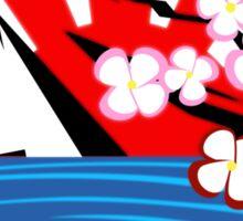 Mt. Fuji w/Cherry Blossoms Sticker