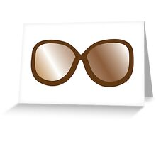 Cute vintage brown hipster 70s glasses Greeting Card
