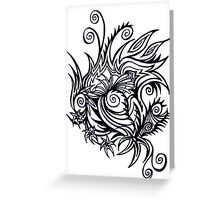 underwater squiggles Greeting Card