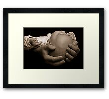 My brother's hands Framed Print