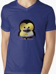 Linux Baby Tux d'Or Mens V-Neck T-Shirt