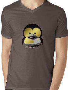 Linux Baby Tux d'Or Mens V-Neck T-Shirt