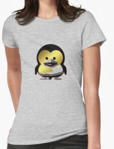 Linux Baby Tux d'Or Womens Fitted T-Shirt