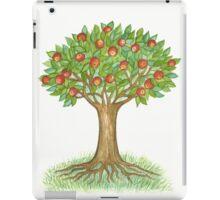 UNIQUE APPLETREE WITH RIPE APPLES - Watercolour-Design iPad Case/Skin