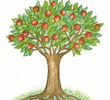 UNIQUE APPLETREE WITH RIPE APPLES  by RubaiDesign