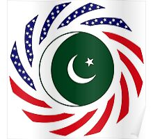 Pakistani American Multinational Patriot Flag Series Poster