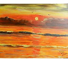 Sunrise over the Ocean Photographic Print