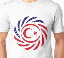 Northern Cyprus American Multinational Patriot Flag Series Unisex T-Shirt