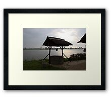 River IJssel Early Morning View Framed Print