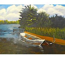 Boat on Norford Broads Photographic Print