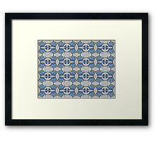 Fish and man o' war motif Framed Print