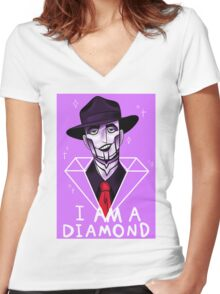 I Am A Diamond Women's Fitted V-Neck T-Shirt