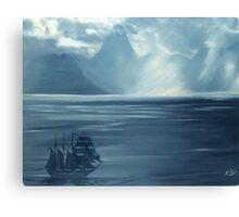 Approaching Tahiti Canvas Print