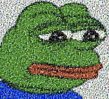 Sad Pepe Collage by jamsbrah