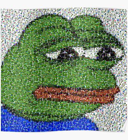 Sad Pepe Collage Poster