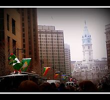Philly Phanatic at St Patricks Day Parade, Philly by lizwaltzes