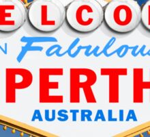 Welcome to Fabulous Perth Sign Sticker