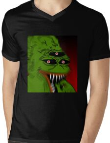 Very Scary Pepe Mens V-Neck T-Shirt