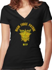 Main Force Patrol Women's Fitted V-Neck T-Shirt