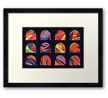 Multicoloured domes Framed Print