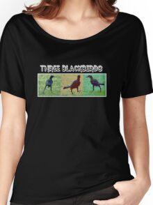 WE THREE BLACKBIRDS Women's Relaxed Fit T-Shirt