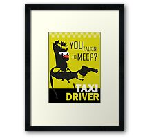 beeker  vs taxidriver Framed Print