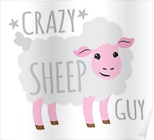 Crazy Sheep Guy Poster