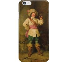 Francesco Beda (Trieste 1840-1900) Wine Tasting iPhone Case/Skin