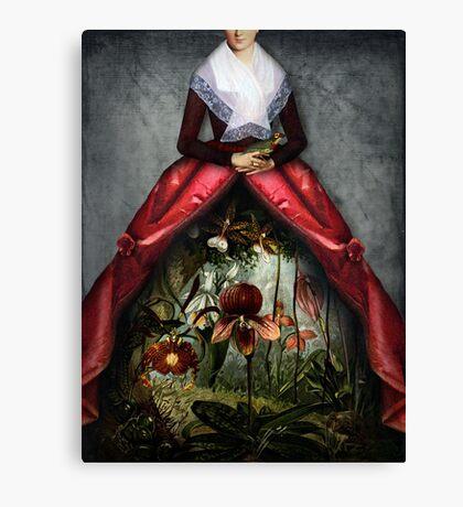 Her garden Canvas Print