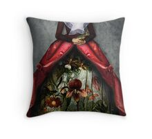 Her garden Throw Pillow